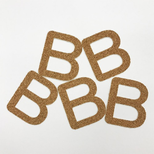切り文字 A&Cペーパー コルク 粘着付 アルファベット「B」