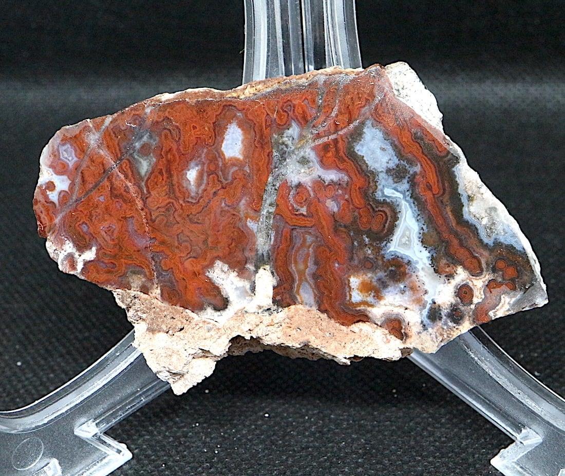 超稀少!ポールバニヤンプルーム アゲート スライス 46g PBA010 瑪瑙 鉱物 原石 天然石 パワーストーン
