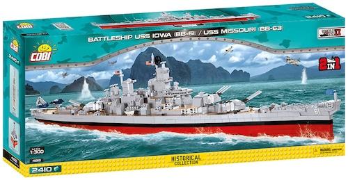 COBI #4812 戦艦アイオワ(BB-61)/ミズーリBB-63