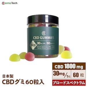 CBDブロードスペクトラムグミ 60粒 CBD1800mg配合 30mg/粒