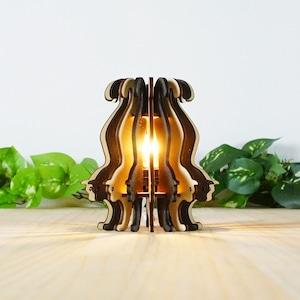 「ねこ」木製フロアランプ