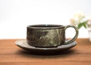 流し掛けコーヒーカップ&ソーサーB/鶴田季子