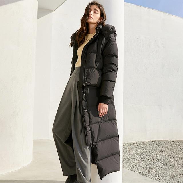 【最高級ホワイトダック90%】2WAYショート丈切り替えフード付きダウンコート 2色展開