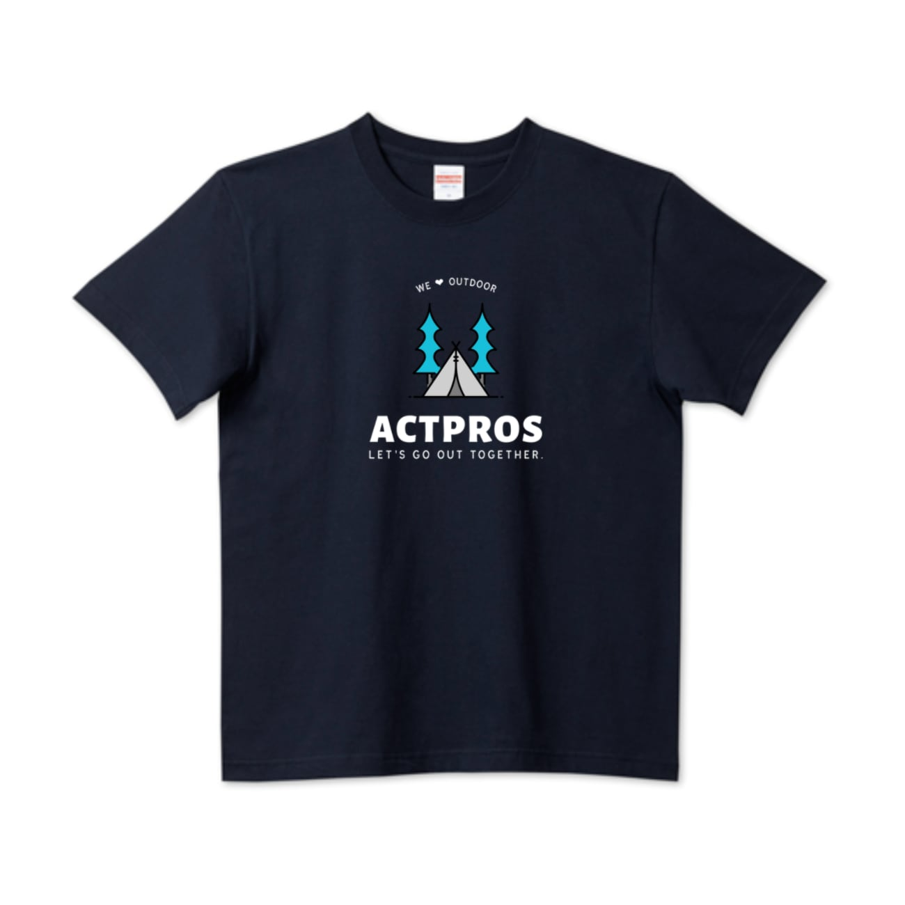 ACTPROS WE❤︎OUTDOOR 5.6ハイクオリティーTシャツ(United Athle)