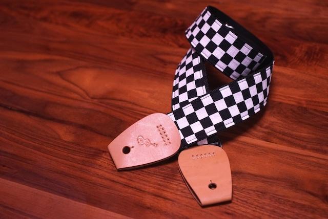 "Largo / Checker flag【""頼りになる""ギターストラップ】"