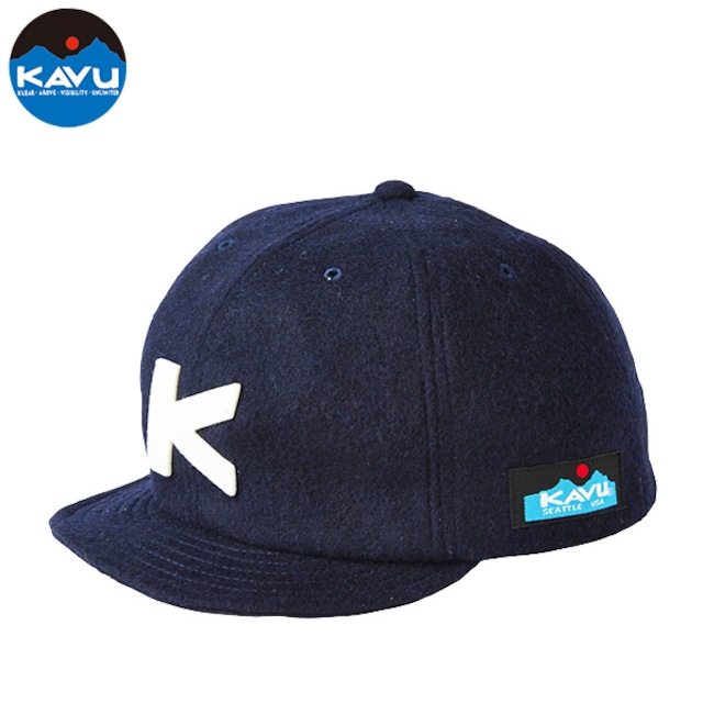 KAVU ウールベースボールキャップ NAVY