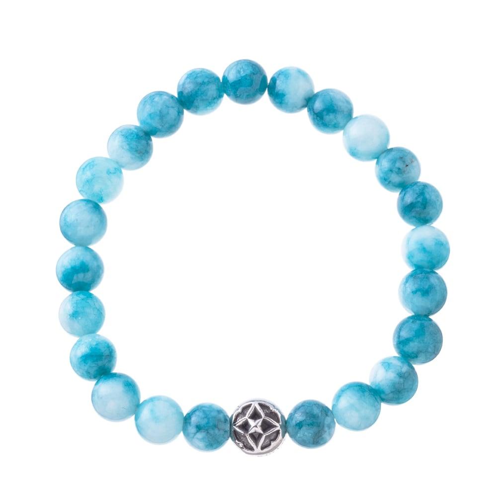 海色水晶数珠ブレス8mm ACB0112 Sea-colored crystal beads breath 8mm