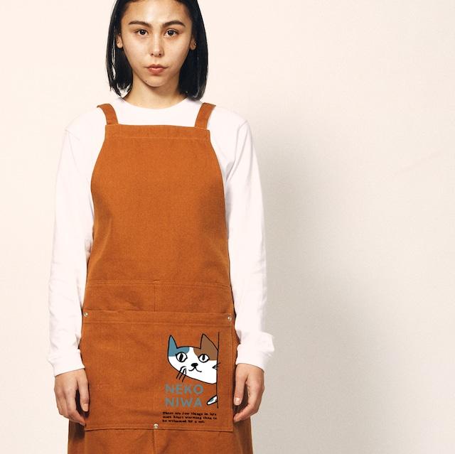 猫庭ウォッシュ キャンバス&ツイル エプロン(5デザイン)全国送料無料