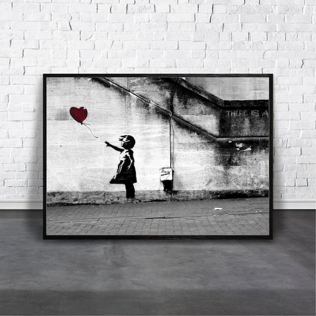 Banksy Girl with Balloon/ 【アートポスター専門店 Aroma of Paris】[AP-000324]