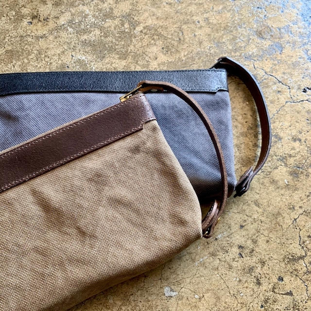 Cow Leather Travel Pouch 2colors