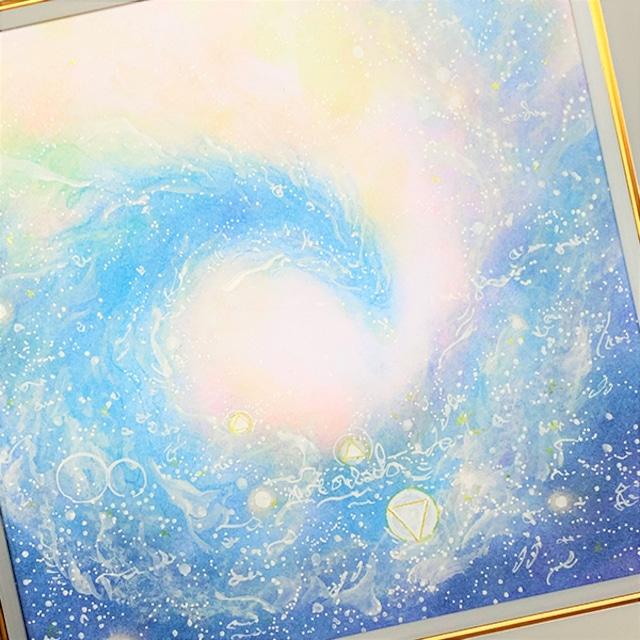 龍神 パステルアート 原画 『虹彩』 龍神様が導くあなたのヒカリ