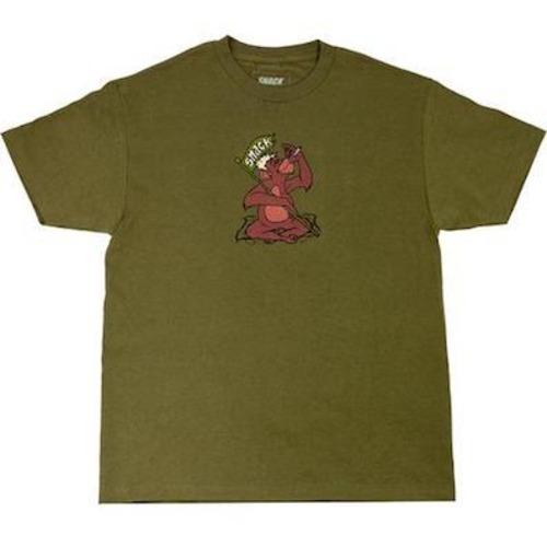 SNACK SKATEBOARDS / JUNGLE TEE / ARMY GREEN  / Tシャツ / L