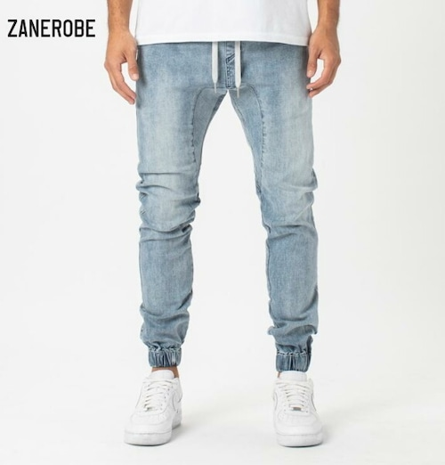 ゼインローブ ジョガーパンツ デニム メンズ 日本企画モデル ZANEROBE SURESHOT DENIM JOGGER MID BLUE