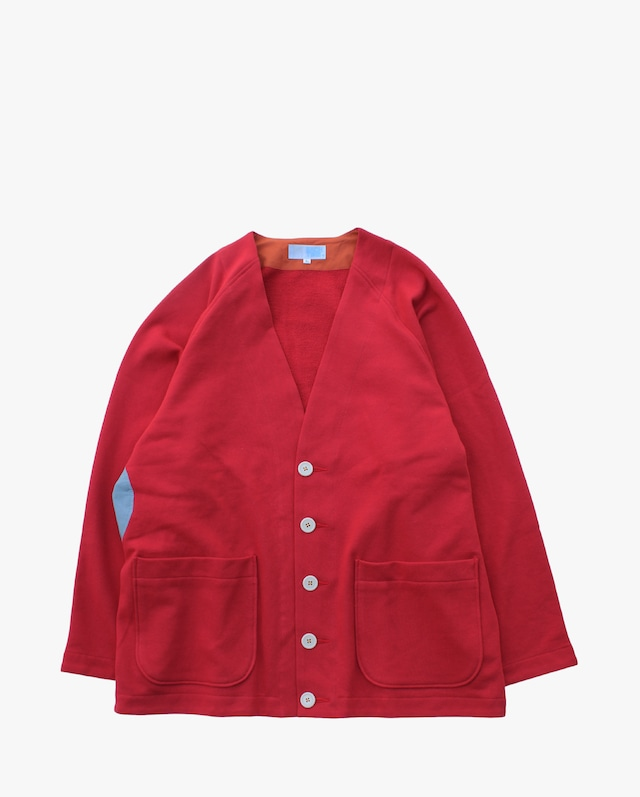 EACHTIME. Sweat Cardigan Red