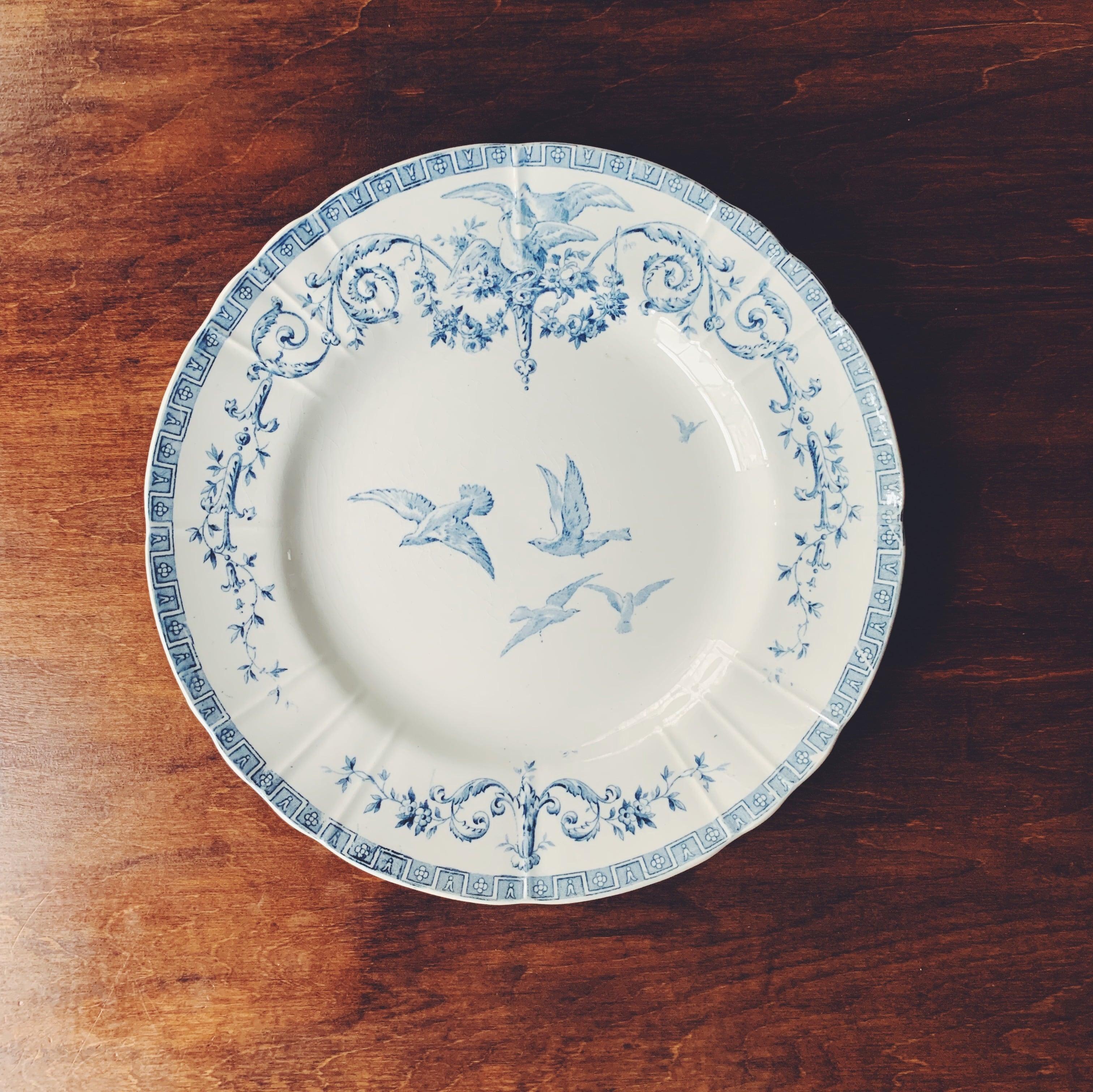 """Gien """"Marie-Antoinette"""" dinner plate ④"""