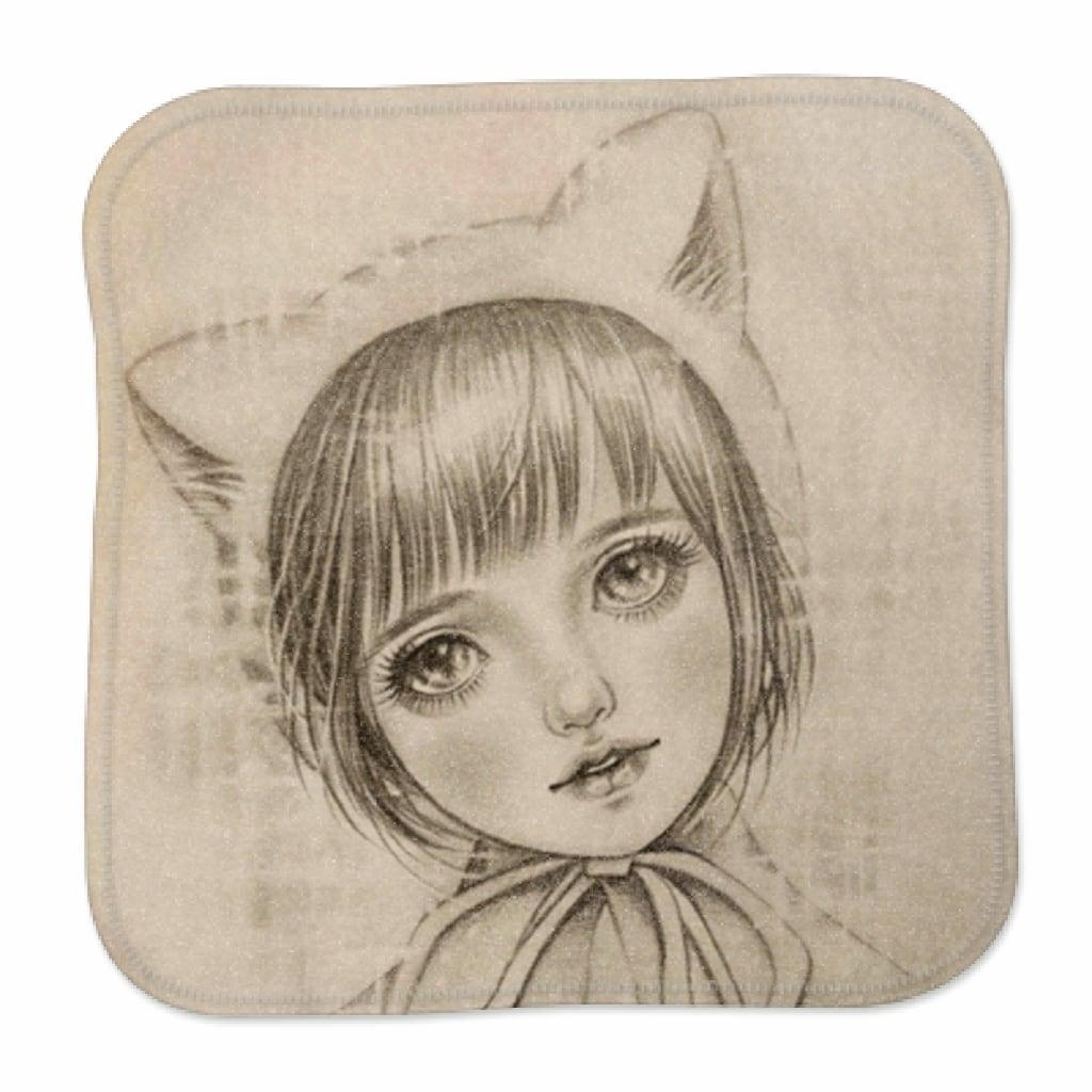 猫耳お帽子ちゃん-ミニハンカチタオル