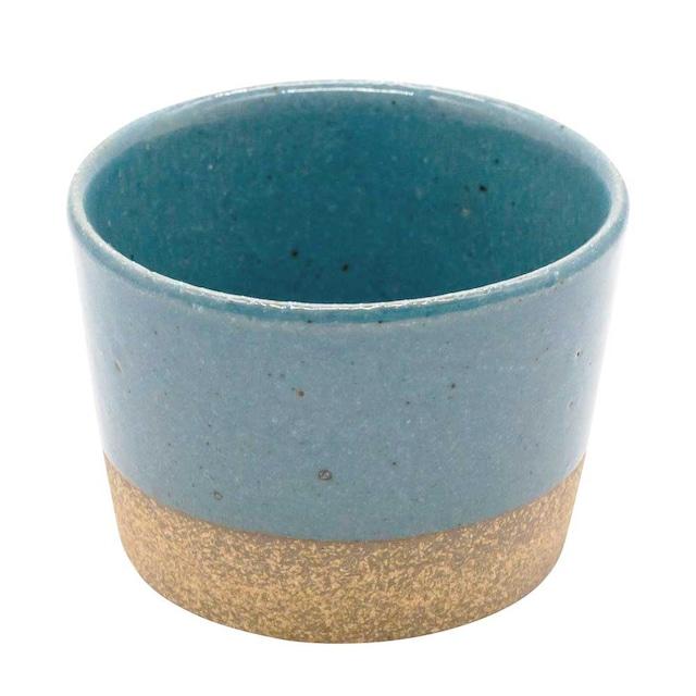 萬古焼 藍窯 フリーカップ 直径9cm 160ml 「エスタ Esta」 赤土ブルー AGM-200115