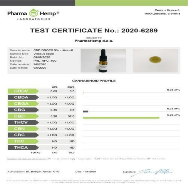 CBDオイル・PharmaHemp・プレミアムブラック5%(10ml・CBD500mg・5%)
