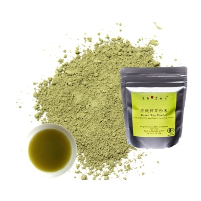 有機緑茶粉末 静岡県産 40g 煎茶粉末 送料無料