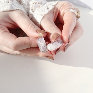 RING || 【通常商品】 ROUND SHAPED CLEAR RING (MOOD OF FLOWER) || 1 RING || CLEAR || FBA044