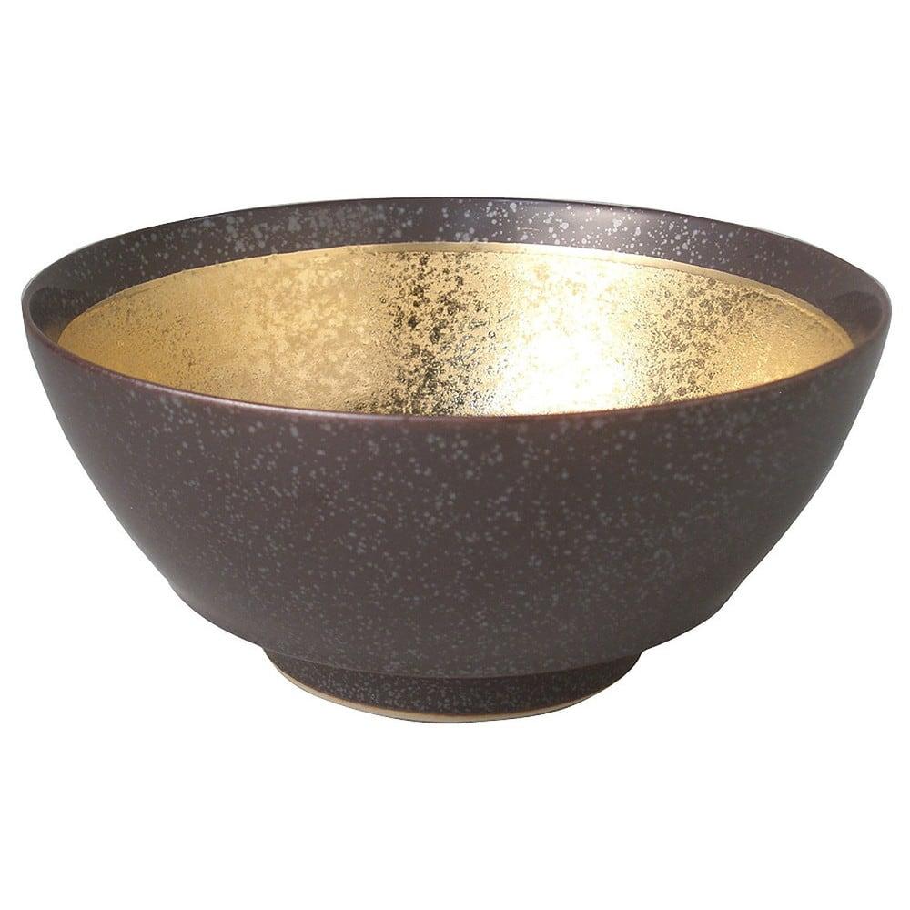まるぶん 有田焼 究極の ラーメン鉢 結晶金巻 R0025