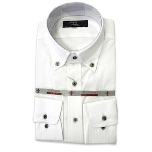 国産ボタンダウンシャツ ホワイト