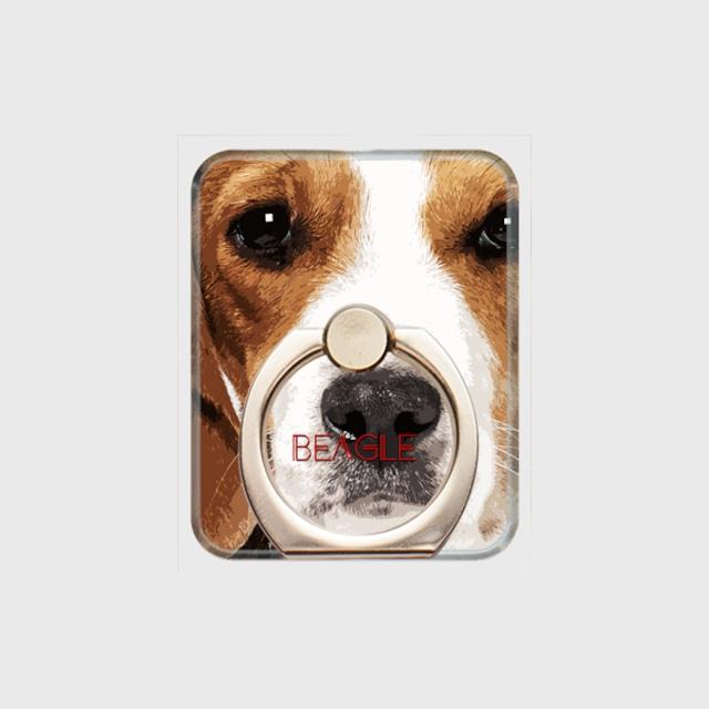 ビーグル おしゃれな犬スマホリング【IMPACT -color- 】