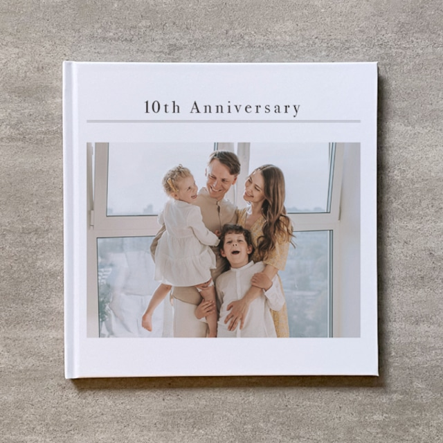Simple white-FAMILY_B5スクエア_10ページ/10カット_フォトブック