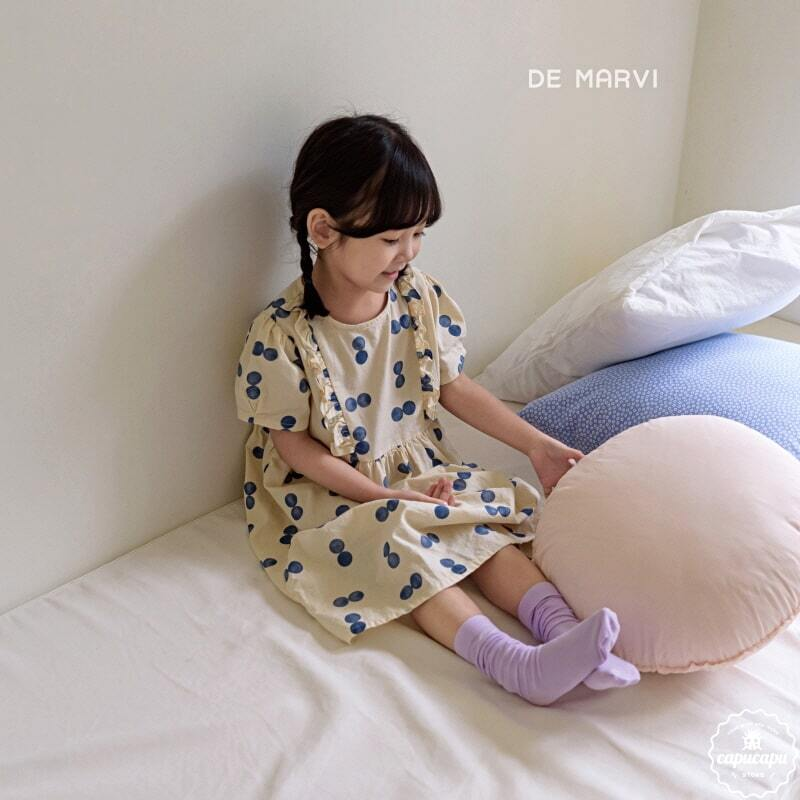 «sold out» de marvi dot onepiece 2colors ダブルドットワンピース