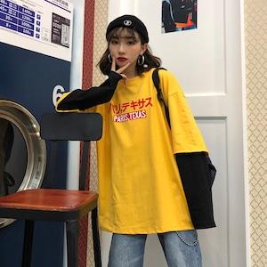 【トップス】アルファベットシンプルTシャツ43013418