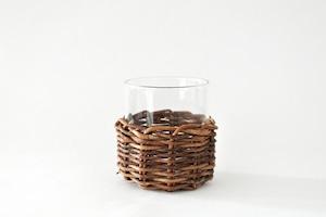 耐熱グラス+あけび編みホルダー