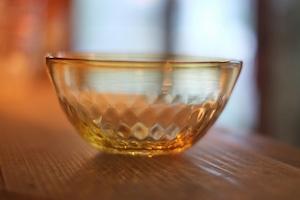 【カンナカガラス工房◆村松学】◆アンバーの鉢◆飴色◆再入荷◆7/11◆