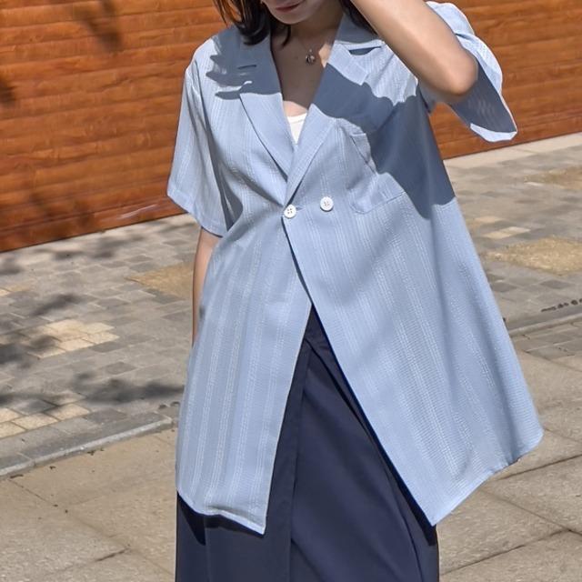 Light texture shirt jacket(ライトテクスチャーシャツジャケット)b-377