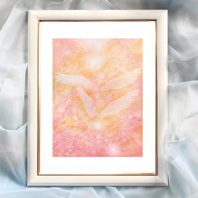 『いつも一緒!』【天使】太子サイズ 額入 ヒーリングアート