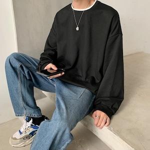 シンプルレイヤードロングTシャツ BL5597