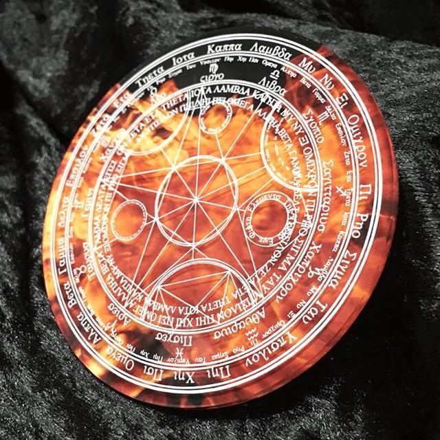 魔法陣コースター(炎)