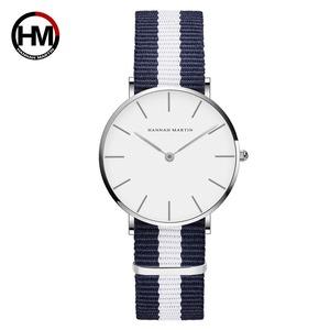ジャパンクォーツムーブメントアナログファッションカジュアルウォッチナイロンストラップ腕時計ブランド女性用防水腕時計CB36-Y5