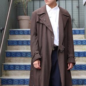 .Y's YOHJI YAMAMOTO WOOL BELTED COAT MADE IN JAPAN/ワイズヨウジヤマモトウールベルテッドコート2000000057057