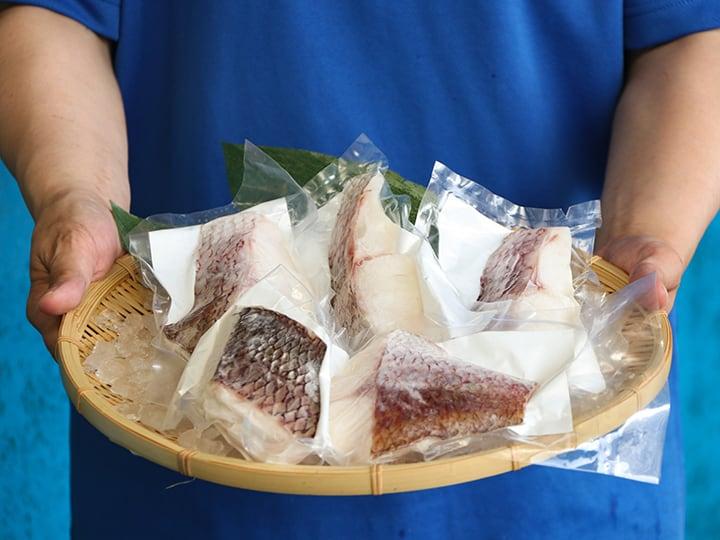 【まずはお試し5パック】[安心の熊本県お墨付き]ふっくら肉厚!天草産「真鯛の切り身」(70g×5パック)