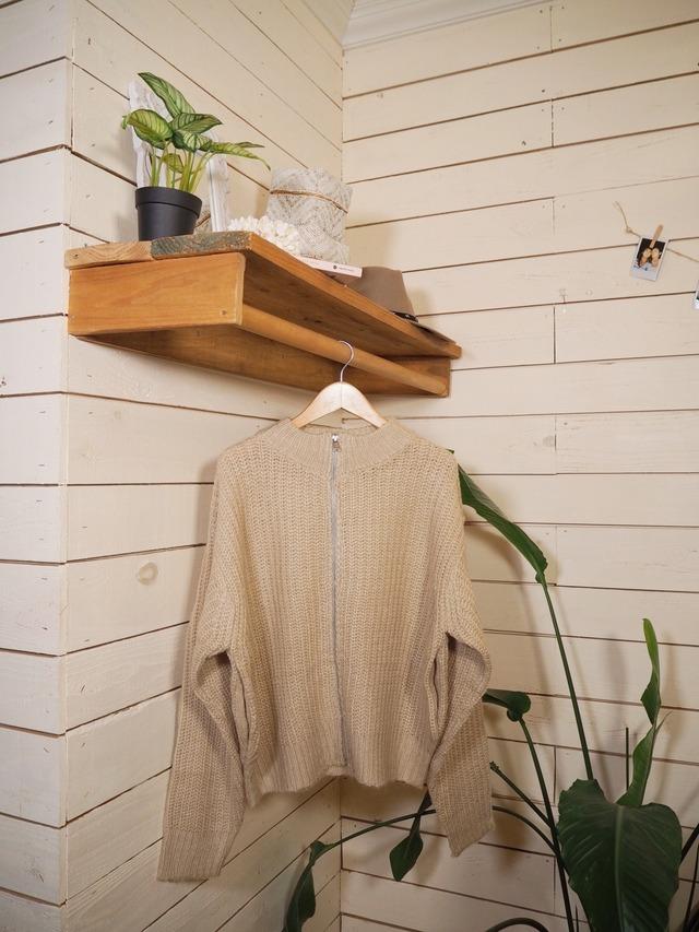 Zip Knit Jacket《BEG》20383143