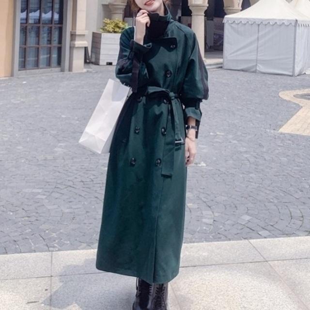 レディースロングコート コート マキシ丈 レディース 大きいサイズ ロングコート アウター 足長  冬 ウエストリボン ウエストマーク