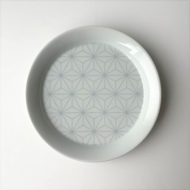 【有田焼】太白麻の葉 渕立丸皿