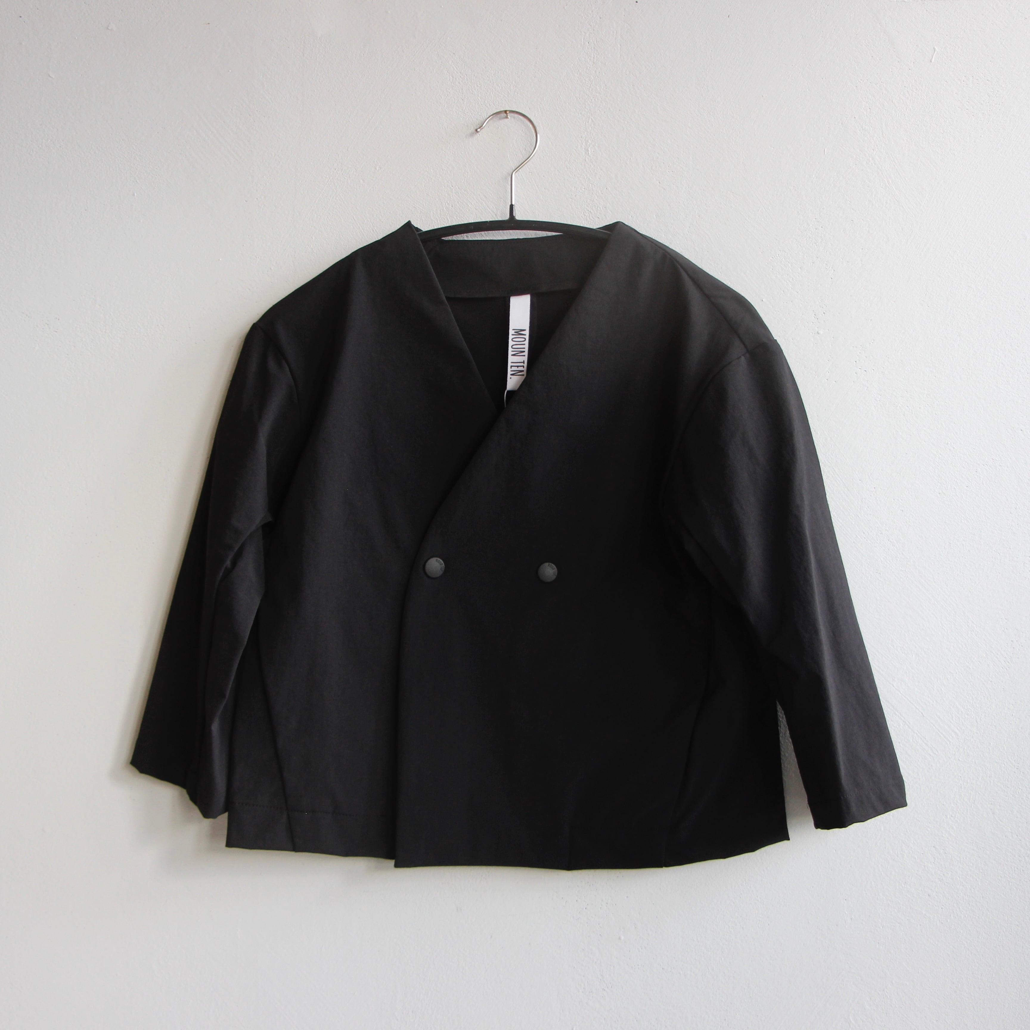 《MOUNTEN. 2021AW》double cloth stretch jacket / black