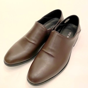 Water Repellent Finished Slip-On Shoes Dark Brown