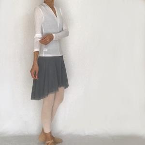 """*""""Beatrix"""" Deep V-neck Ballet Pullover - White(『ベアトリクス』深V首バレエプルオーバー・白)"""