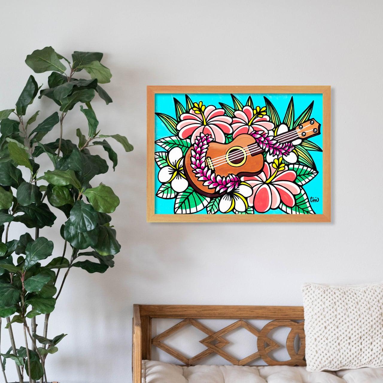 原画 A3(Ukulele Hibiscus)