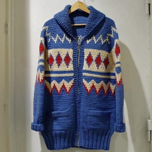 1950-60s Vintage Cowichan Sweater / 60年代 ダイヤ柄 ヴィンテージ カウチン セーター