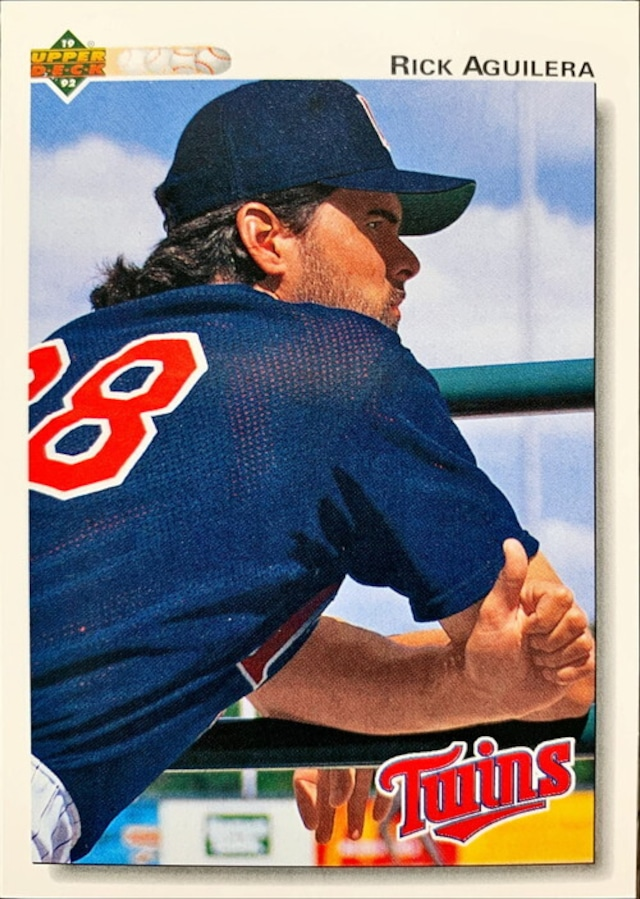 MLBカード 92UPPERDECK Rick Aguilera #130 TWINS