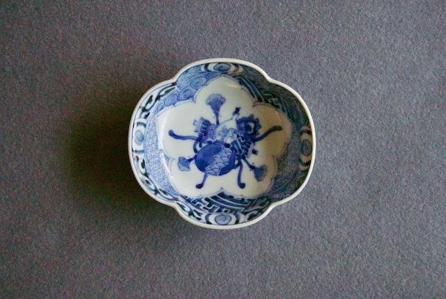 ■山本長左  :  藍九谷宝紋 つば型小付