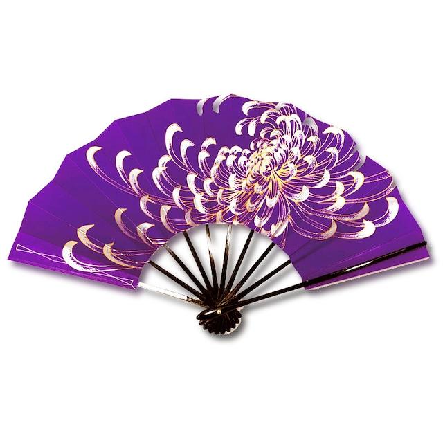 舞扇 4020 紫 両面同柄
